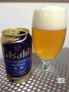 綺麗なグラスに注いだアサヒドライプレミアム 豊醸