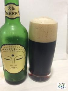 グラスに注いだ大仏ビール