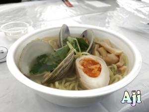 豊洲市場 Oishii 土曜マルシェ はまぐり ラーメン
